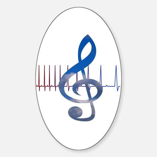 Cute Music therapy Sticker (Oval)