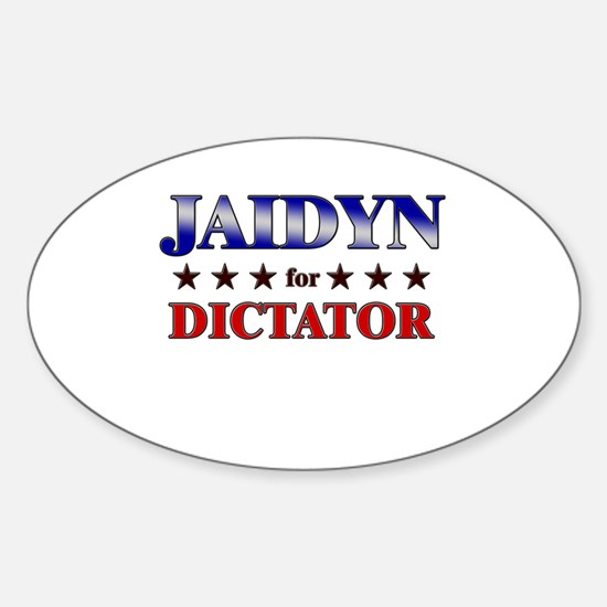 JAIDYN for dictator Oval Decal