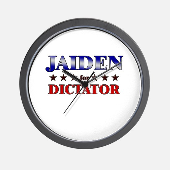 JAIDEN for dictator Wall Clock