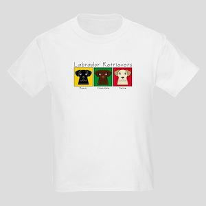 Three Labradors Kids Light T-Shirt