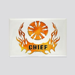 Fire Chiefs Flame Tattoo Rectangle Magnet