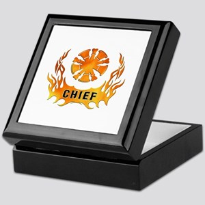 Fire Chiefs Flame Tattoo Keepsake Box