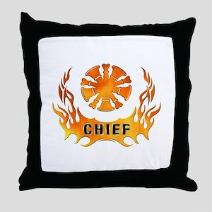 Fire Chiefs Flame Tattoo Throw Pillow