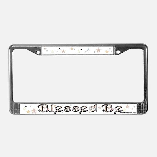 Blessed Be License Plate Frame