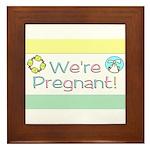 We're Pregnant! Framed Tile