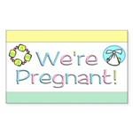 We're Pregnant! Rectangle Sticker