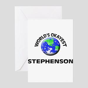 World's Okayest Stephenson Greeting Cards