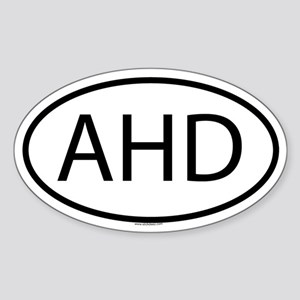 AHD Oval Sticker