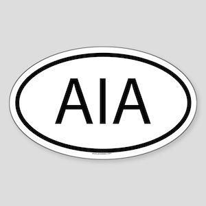 AIA Oval Sticker