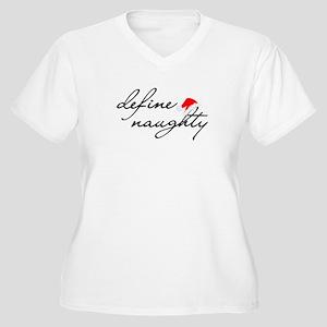 Define Naughty Women's Plus Size V-Neck T-Shirt