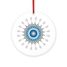 Blue Starburst Ornament (Round)