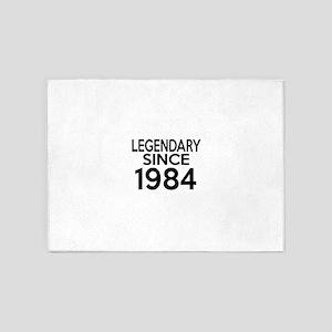 Legendary Since 1984 5'x7'Area Rug