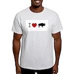 I LOVE BUFFALO Ash Grey T-Shirt