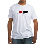 I LOVE BUFFALO Fitted T-Shirt
