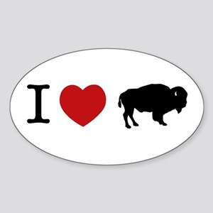 I LOVE BUFFALO Oval Sticker
