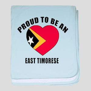 East Timoerses Patriotic Designs baby blanket