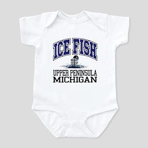Ice Fish the Upper Peninsula Infant Bodysuit