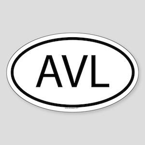 AVL Oval Sticker