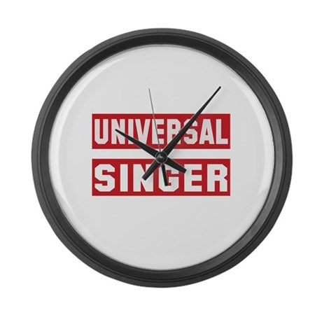 Universal Singer Large Wall Clock