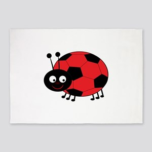 Soccer Lady Bug 5'x7'Area Rug