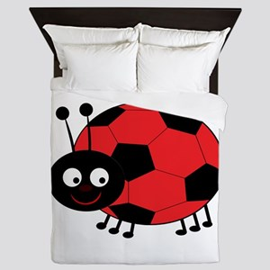 Soccer Lady Bug Queen Duvet