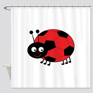Soccer Lady Bug Shower Curtain