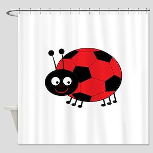 Soccer Lady Bug Shower Curtain