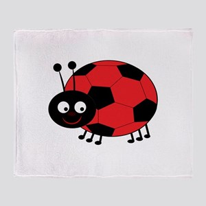 Soccer Lady Bug Throw Blanket