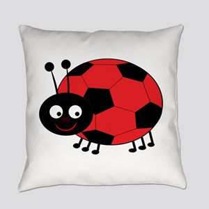 Soccer Lady Bug Everyday Pillow
