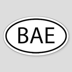 BAE Oval Sticker