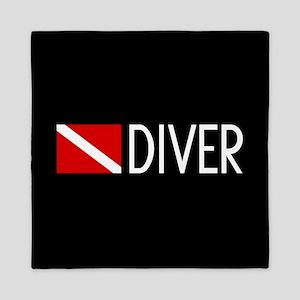Diving: Diving Flag & Diver Queen Duvet