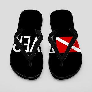 Diving: Diving Flag & Diver Flip Flops