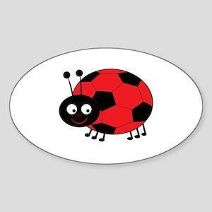 Soccer Lady Bug Sticker