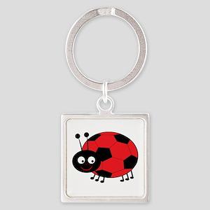 Soccer Lady Bug Keychains
