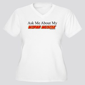 """""""Ask Me About My Mopar"""" Women's Plus Size V-Neck T"""