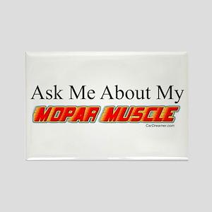 """""""Ask Me About My Mopar"""" Rectangle Magnet"""