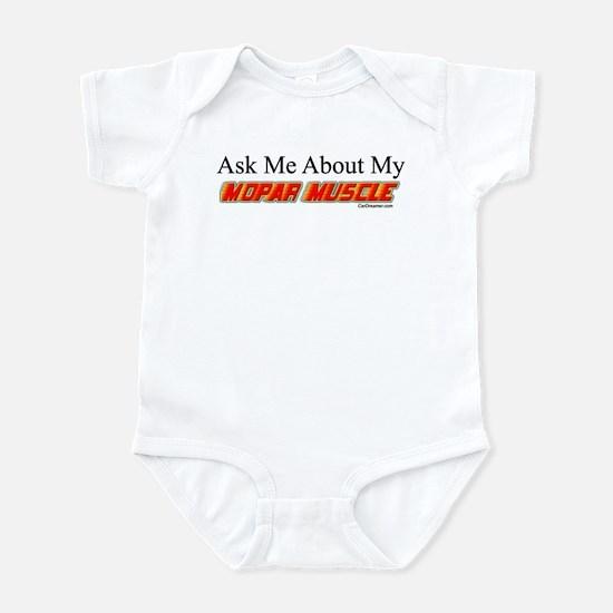 """""""Ask Me About My Mopar"""" Infant Bodysuit"""