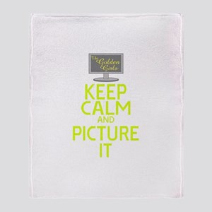 Keep Calm and Picture It Throw Blanket