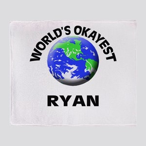 World's Okayest Ryan Throw Blanket