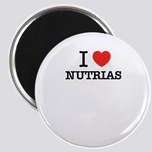 I Love NUTRIAS Magnets