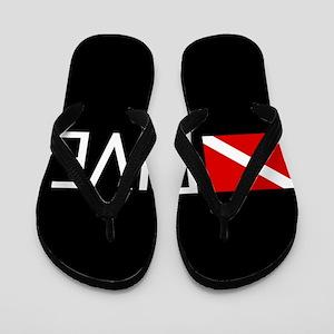 Diving: Diving Flag & Dive. Flip Flops