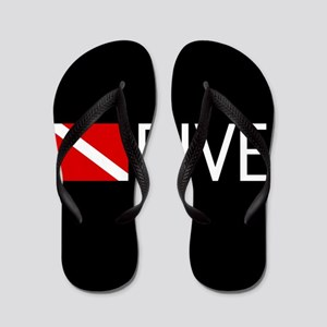 Diving: Diving Flag & Dive. Flip Flops