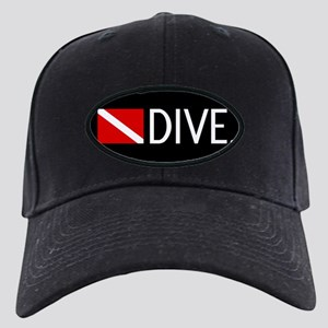 Diving: Diving Flag & Dive. Black Cap