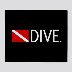Diving: Diving Flag & Dive. Throw Blanket