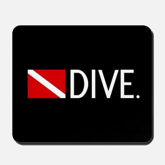 Diving: Diving Flag & Dive. Mousepad