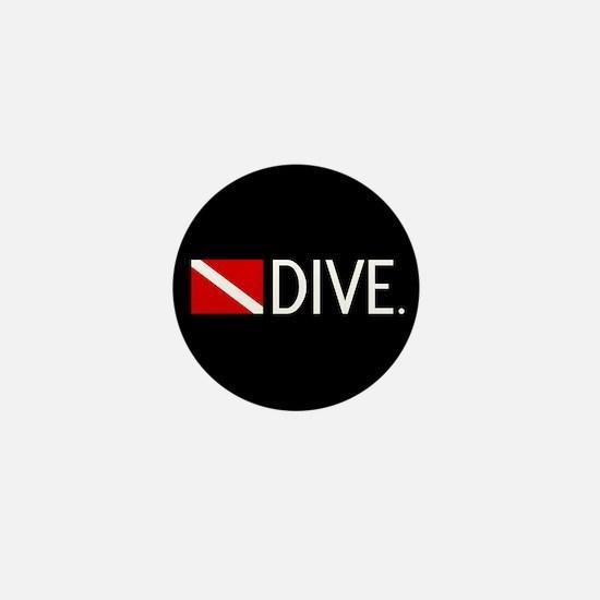 Diving: Diving Flag & Dive. Mini Button