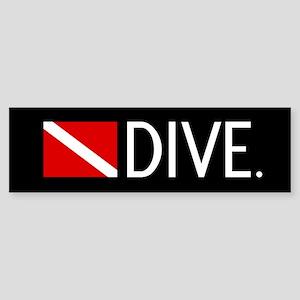 Diving: Diving Flag & Dive. Sticker (Bumper)