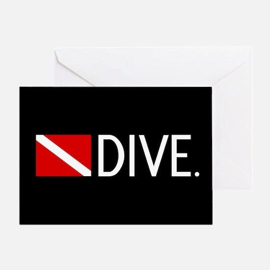 Diving: Diving Flag & Dive. Greeting Card