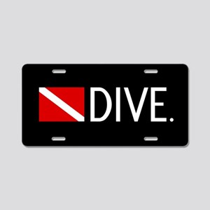 Diving: Diving Flag & Dive. Aluminum License Plate