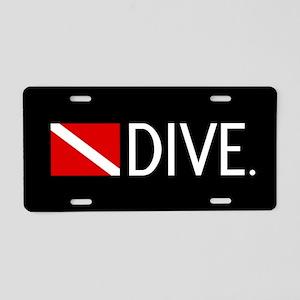 Diving: Diving Flag & Dive. Aluminum License Plate